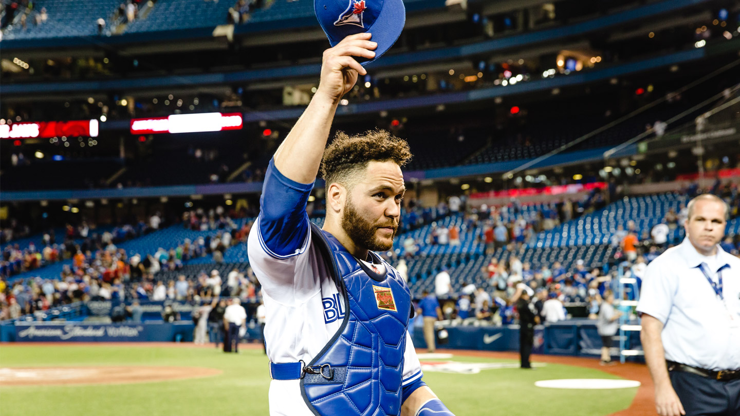 photo essay a day at the office blue jays catcher russell  you can have a guy that was 0 4 but every at bat he was 3 2 and made the pitcher grind to get him out everything matters it s not just the guys who get
