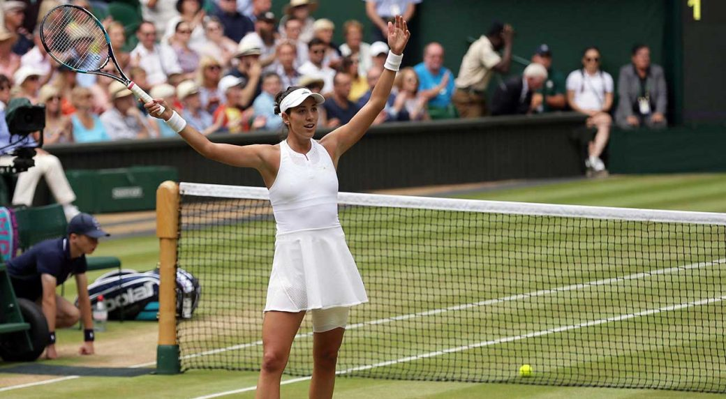 Garbine Muguruza thrashes Magdalena Rybarikova to reach Wimbledon final
