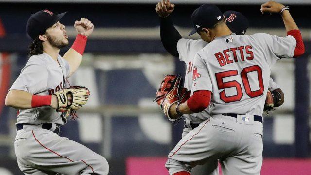 Red Sox rookies Devers, Benintendi key win over Yankees in 10