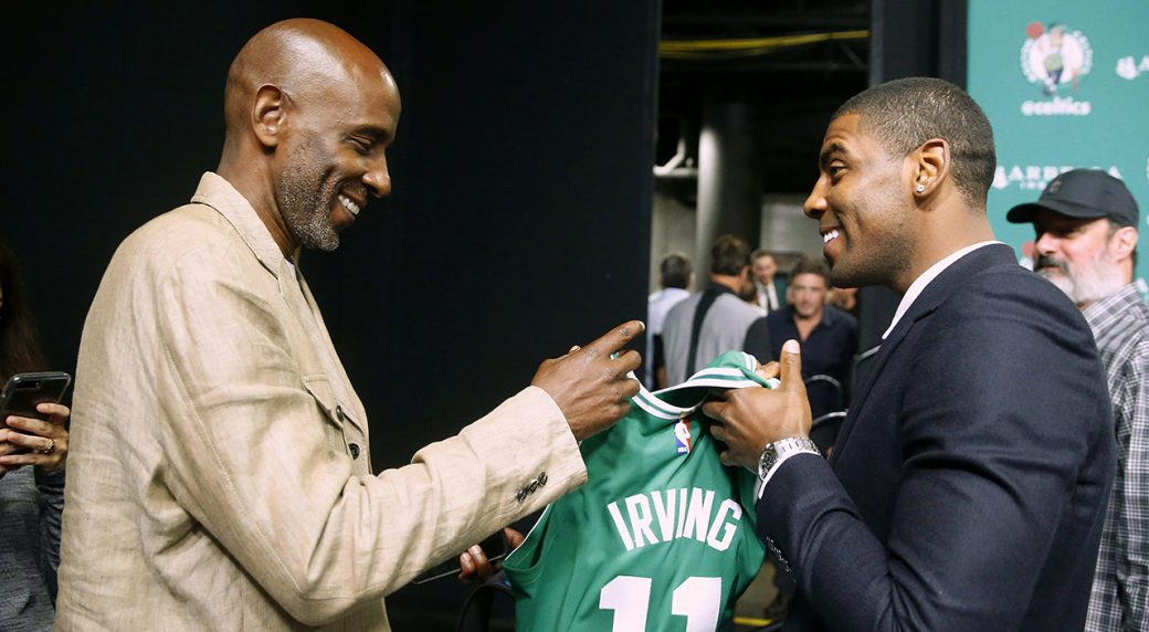 Kyrie Irving hails Boston as a 'real, live sports city'