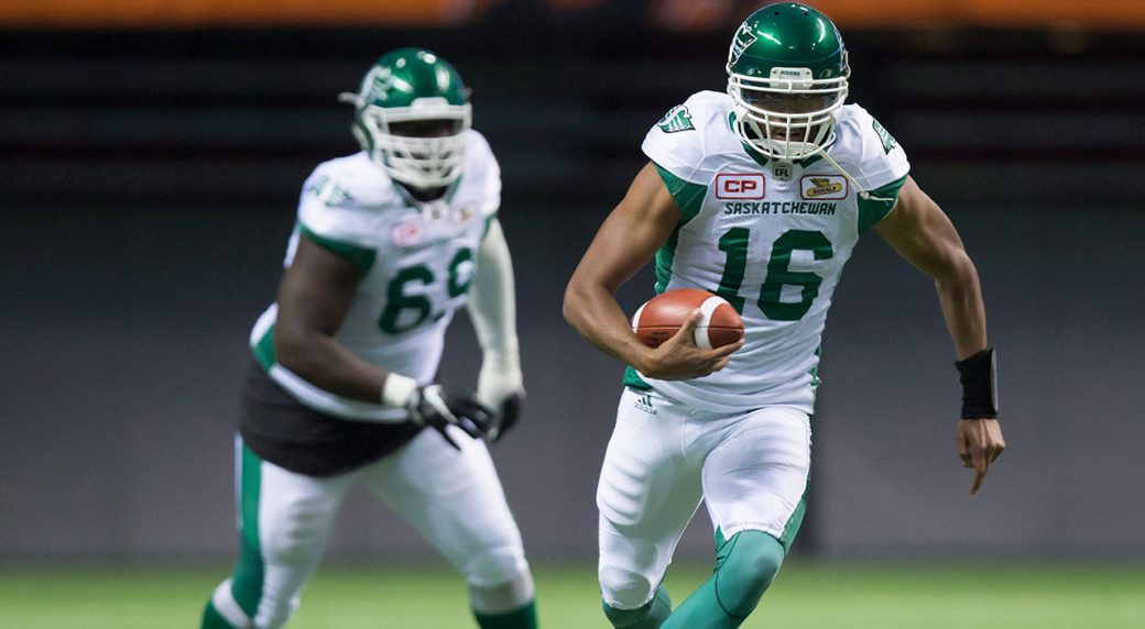 Canadian QB Brandon Bridge, Roughriders down Tiger-Cats 27-19