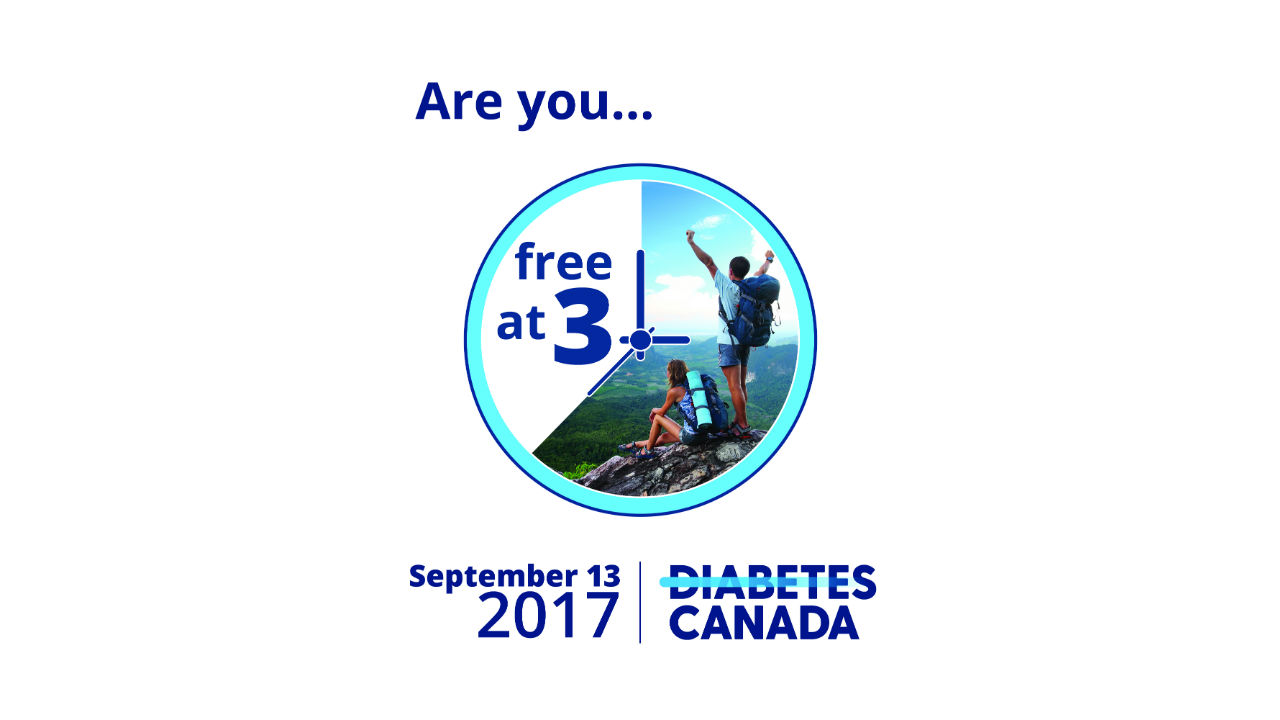 Free @ 3pm in support of Diabetes Canada