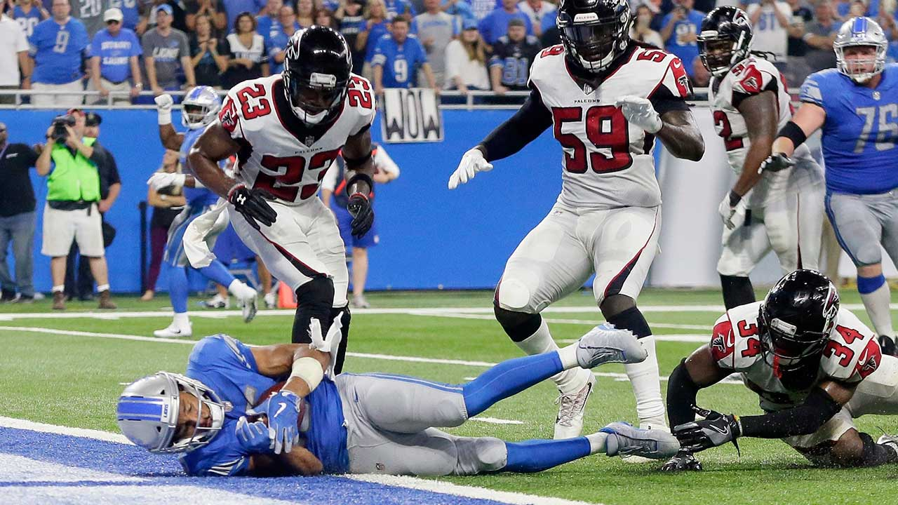 Lions lose to Falcons after last second touchdown is overturned