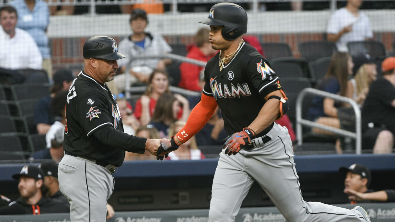 Stanton hits 54th homer, Braves beat Marlins