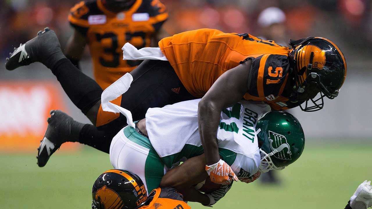 CFL issues maximum fine against Lions LB Micah Awe for hits