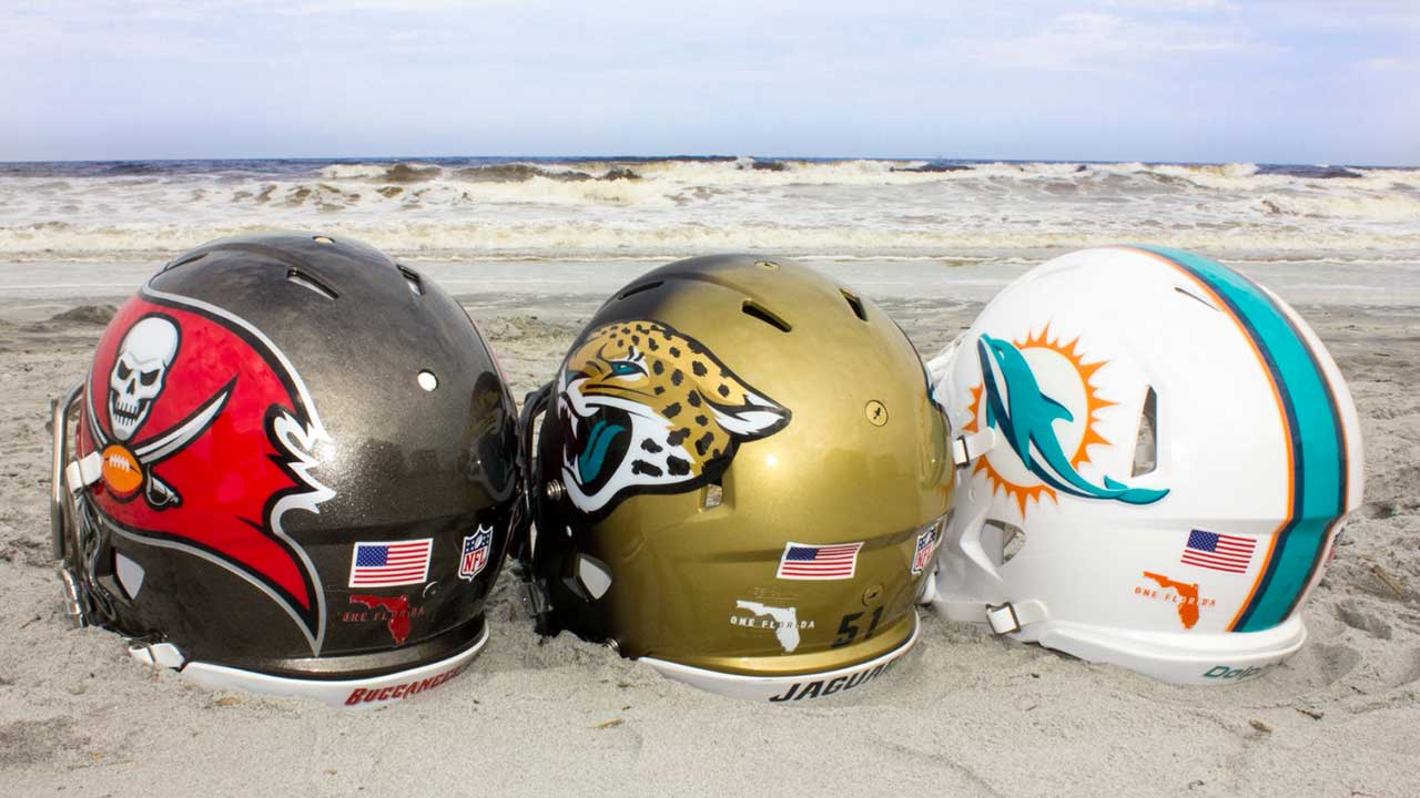 NFL's Florida teams unite with helmet decals in wake of Hurricane Irma