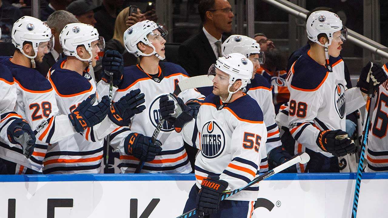 Letestu scores twice as Oilers top Flames in split-squad game