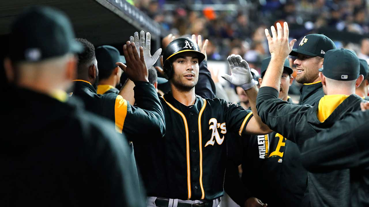 Olson homers for fourth straight game in A's win over Tigers