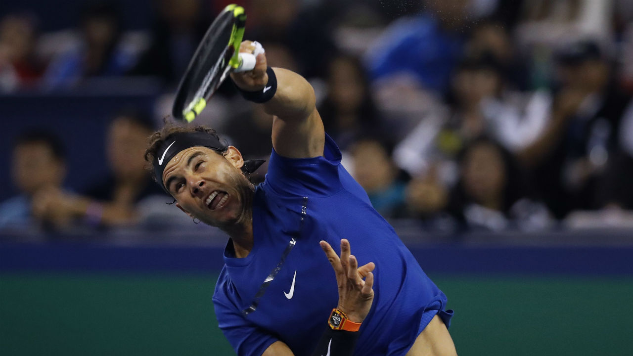 Nadal chases 7th title of year, advances to Shanghai final