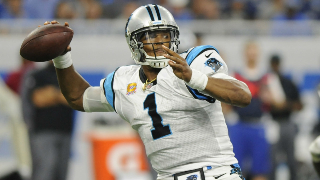 Cam Newton's 3 TD passes help Panthers beat Lions