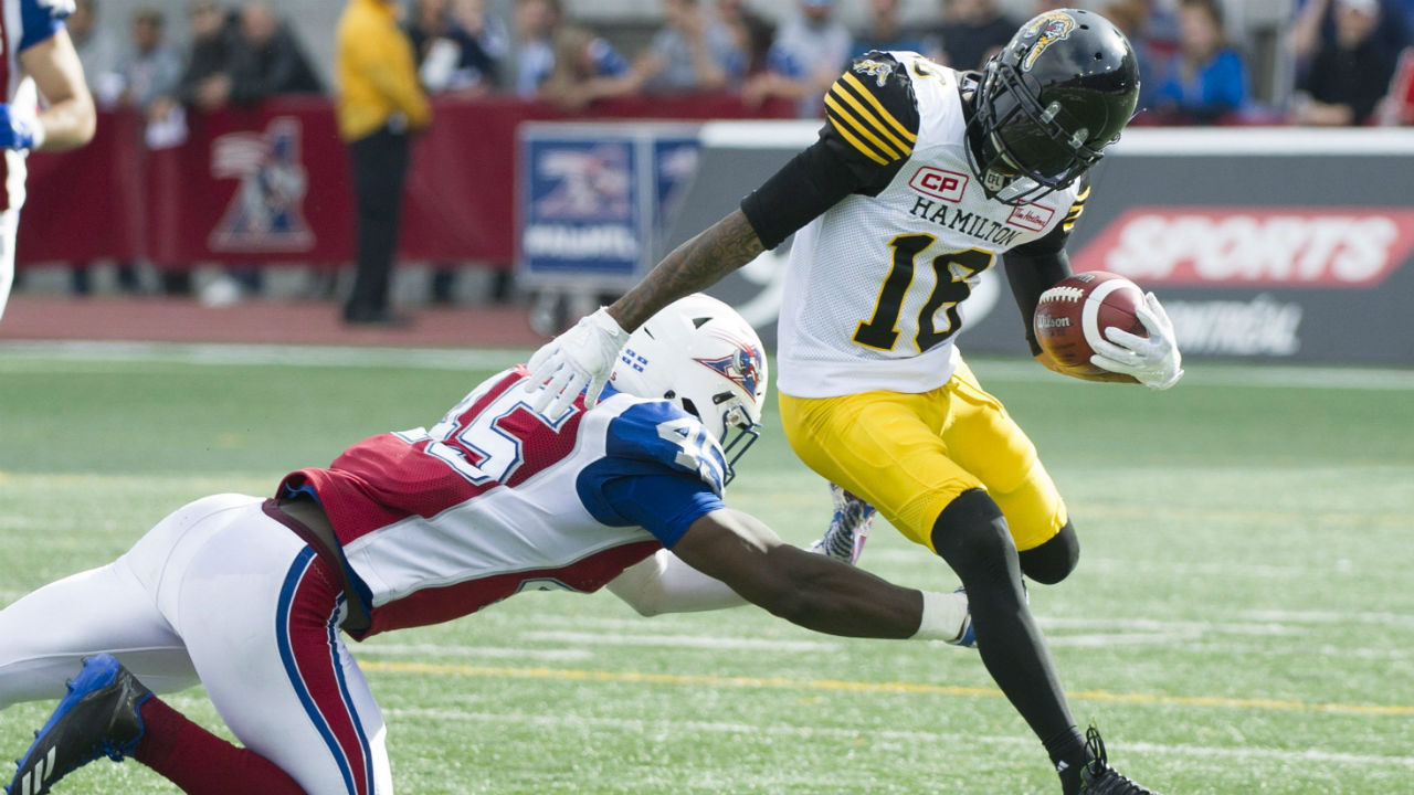 Banks scores two touchdowns to lead Tiger-Cats over Alouettes