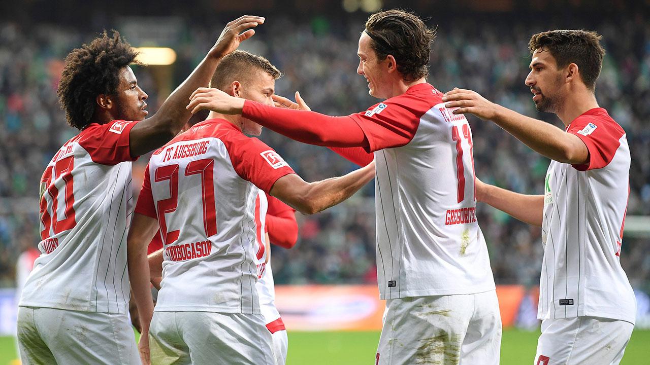 Michael Gregoritsch scores twice as Augsburg tops Werder Bremen