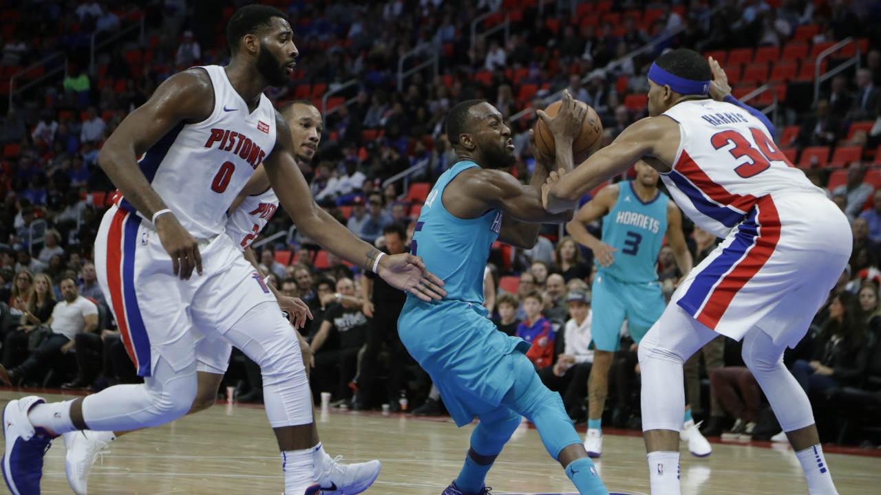Harris-led Pistons beat Hornets in return downtown