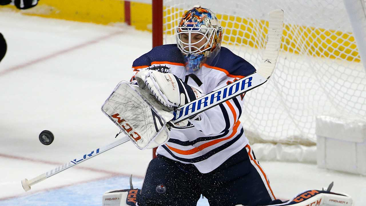 Oilers pull Cam Talbot early after ugly start vs. Blues