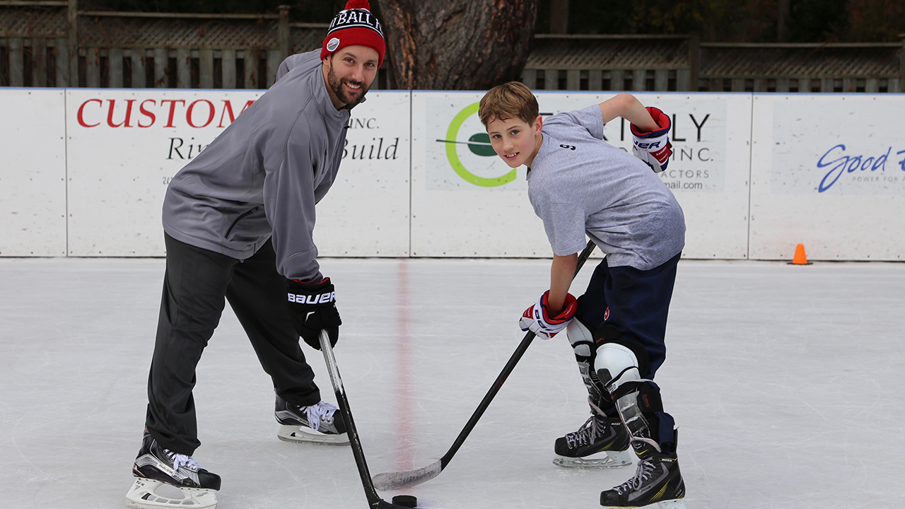 NHL players can't stay away from Sam Gagner's old backyard rink