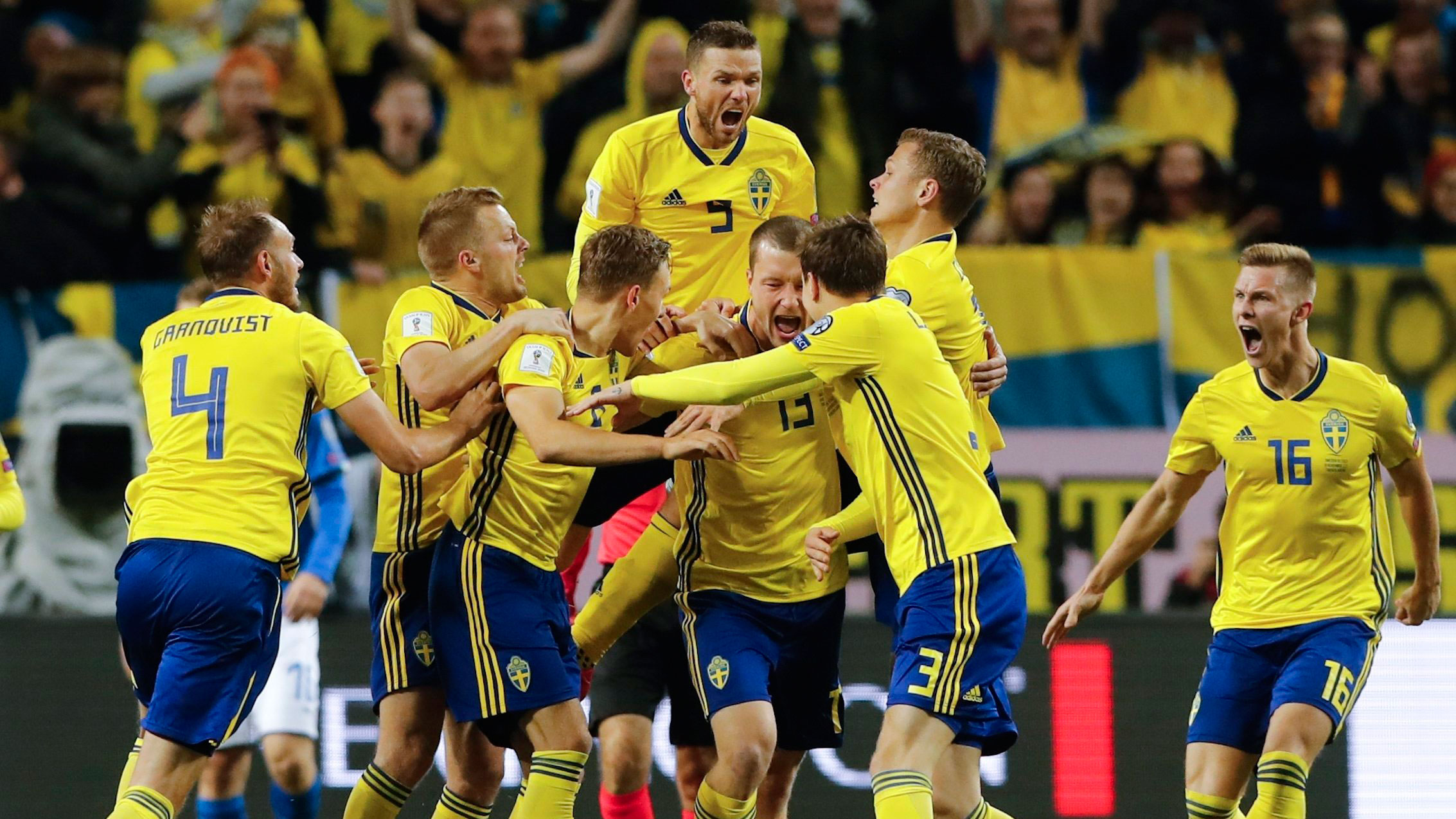 Sweden's playoff match winner misses World Cup with injury