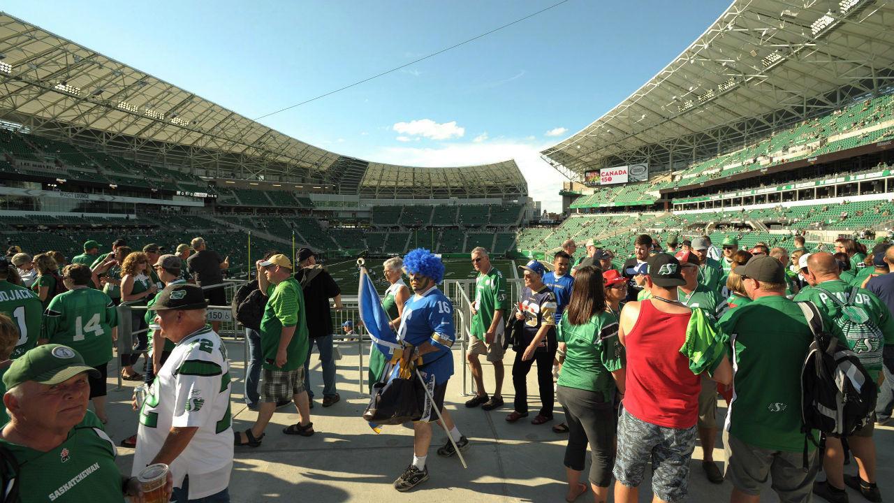 Saskatchewan Roughriders Mosaic Stadium.