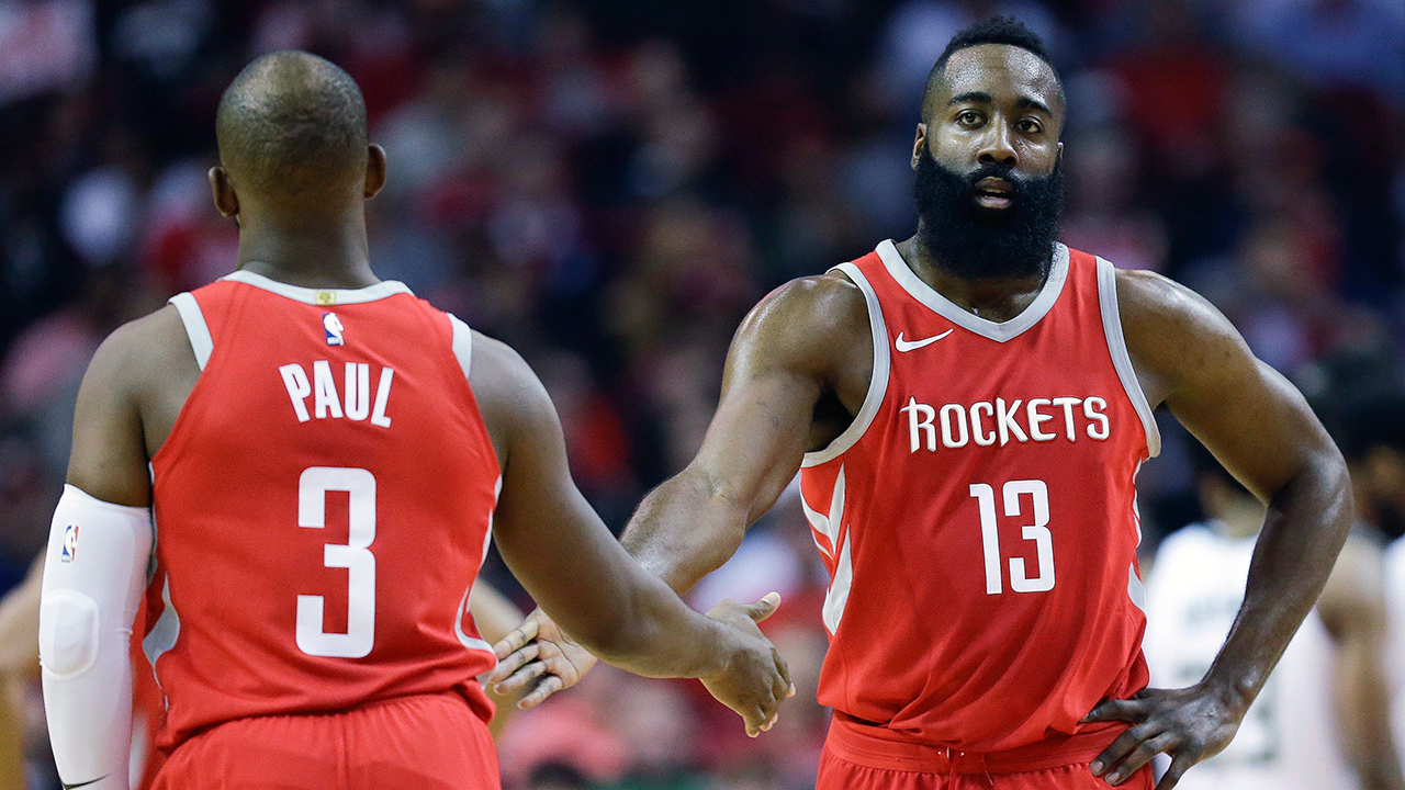 Harden, Paul lead Rockets to 13th straight victory