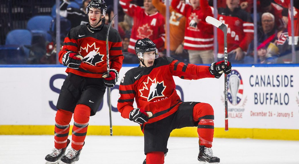... Timmins during the second period of IIHF World Junior Championship  preliminary round hockey action against Finland 311ed420e