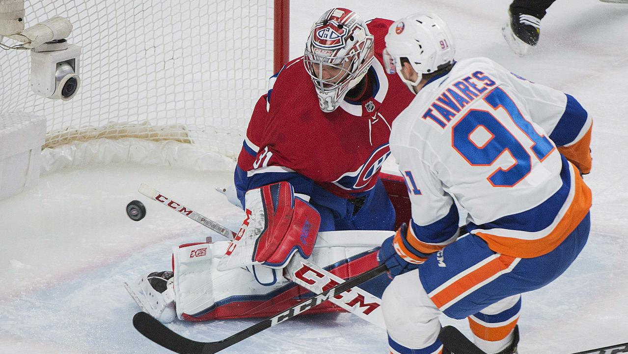 b35d55ff19d Greiss stops 52 shots, Tavares scores twice as Islanders manage OT win  against Canadiens - Sportsnet.ca