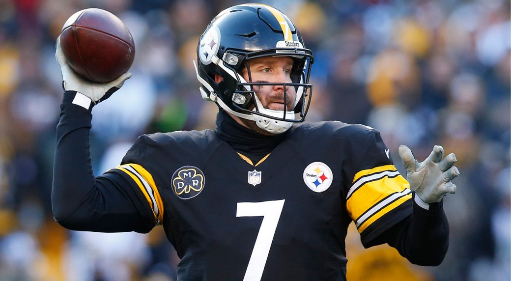Epa06438767 Pittsburgh Steelers Quarterback Ben Roethlisberger Throws A Pass Against The Jacksonville Jaguars In Second Half Of NFL American