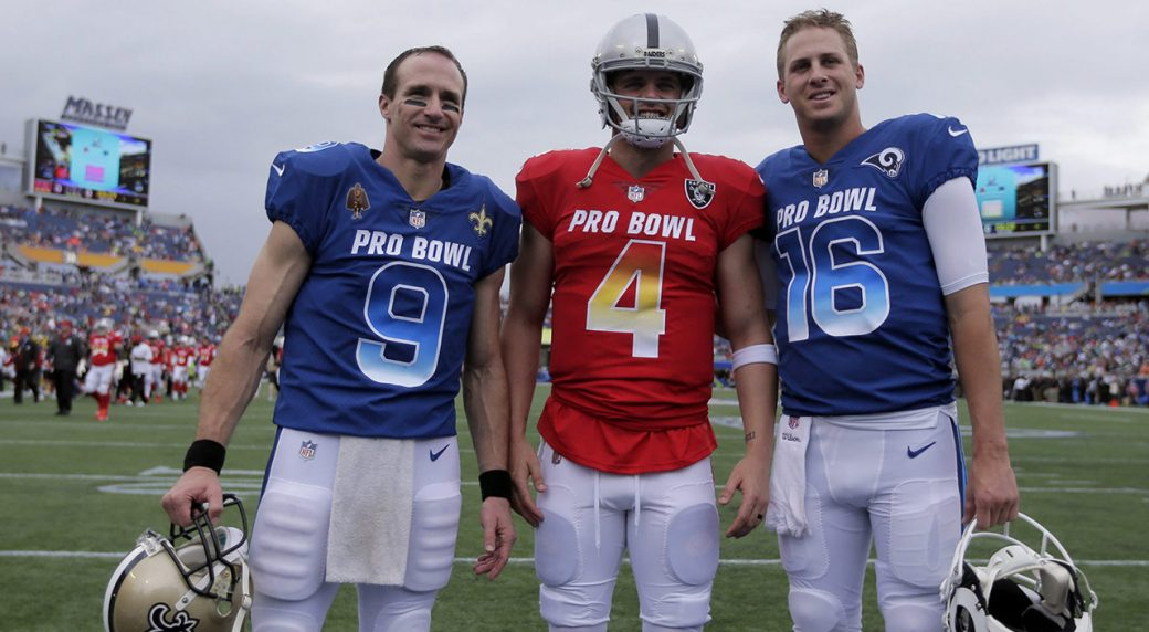 Drew Brees' sons get rowdy during amusing Pro Bowl interview