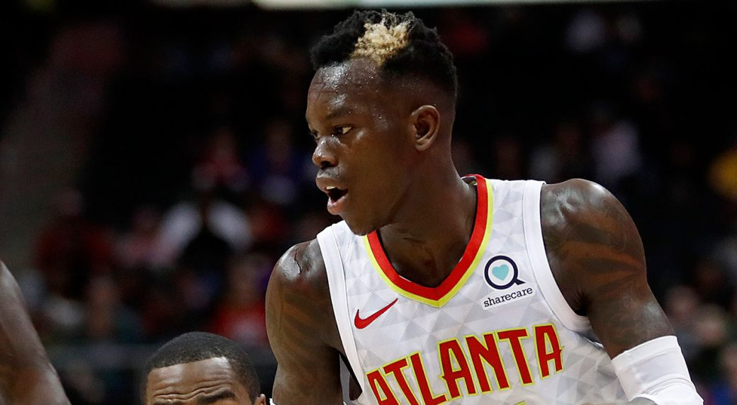 dennis schroder done for season with bone bruise ankle injury