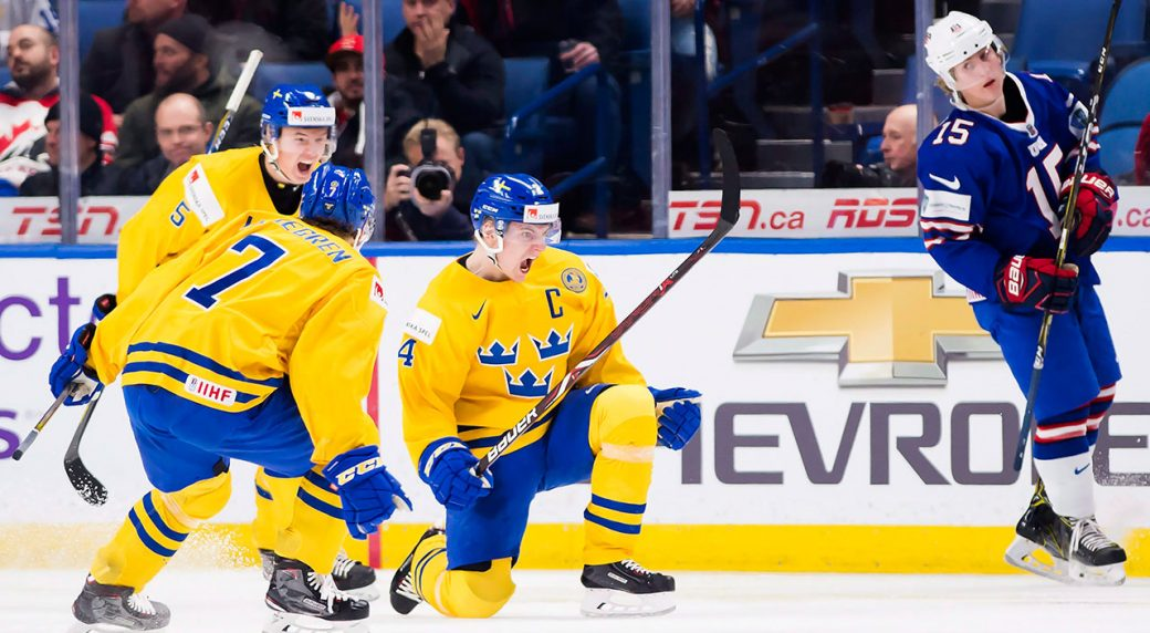 5ce12c97a7a Sweden beats U.S. to advance into world junior gold medal game ...