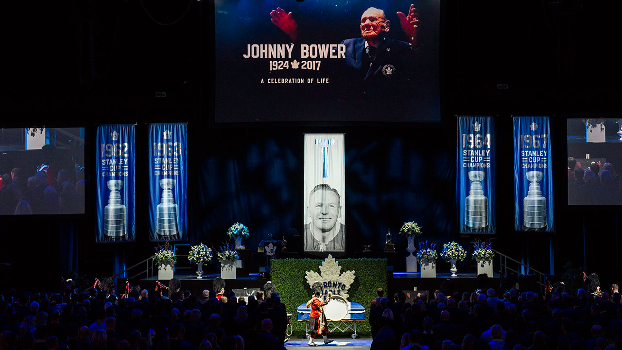 Speeches About Late Johnny Bower Paint Portrait Of Life Well Lived