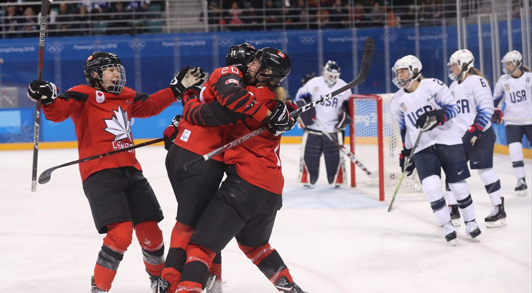 Canada Defeats U S To Remain Perfect In Olympic Womens Hockey