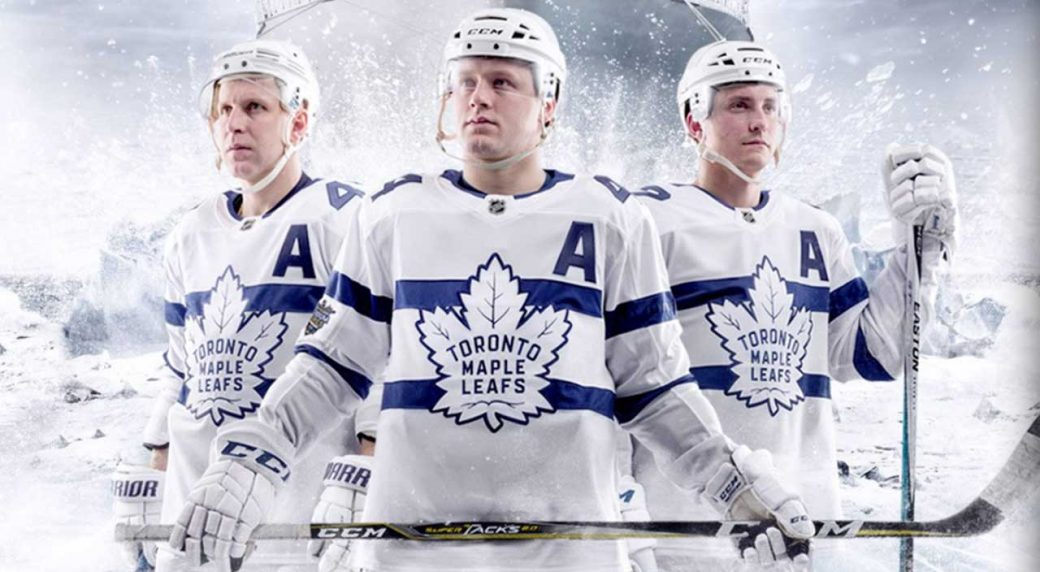 The uniform the Toronto Maple Leafs will wear for the upcoming Stadium  Series game at Navy-Marine Corps Memorial Stadium 75930f284