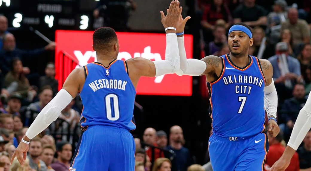 Russell Westbrook, Carmelo Anthony out for Thunder vs ...