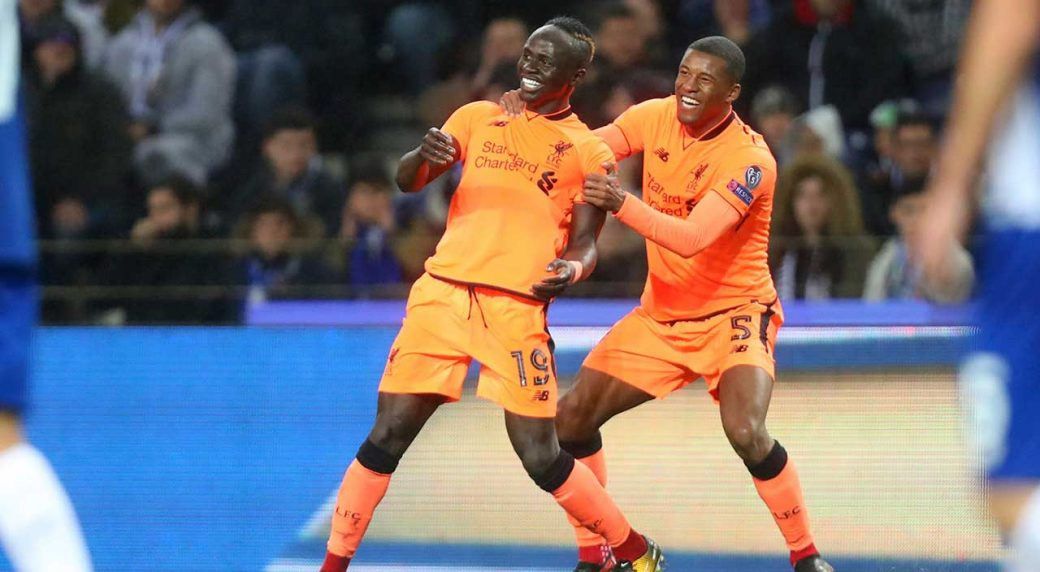 Image result for Mane leads Liverpool rout of Porto