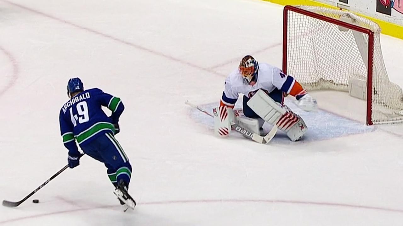 708a923102d Archibald goes over Halak s blocker for penalty shot goal - Sportsnet.ca