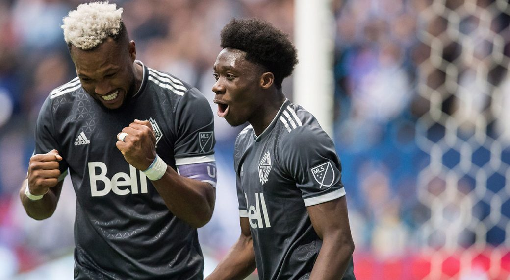 Vancouver Whitecaps Kendall Waston Left And Alphonso Davies Darryl Dyck Cp