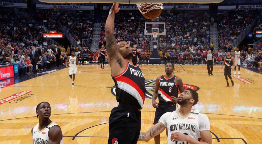 fc16a6db9727 Lillard s 41 points lifts Blazers past Pelicans - Sportsnet.ca
