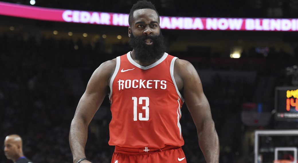 Rockets' James Harden borrows Shaq's 'barbecue chicken' line after roasting Trail Blazers