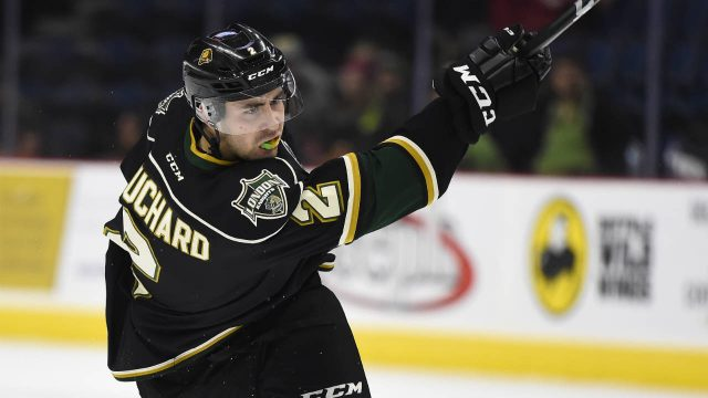 London-Knights-defenceman-Evan-Bouchard.-(Aaron-Bell/OHL-Images)