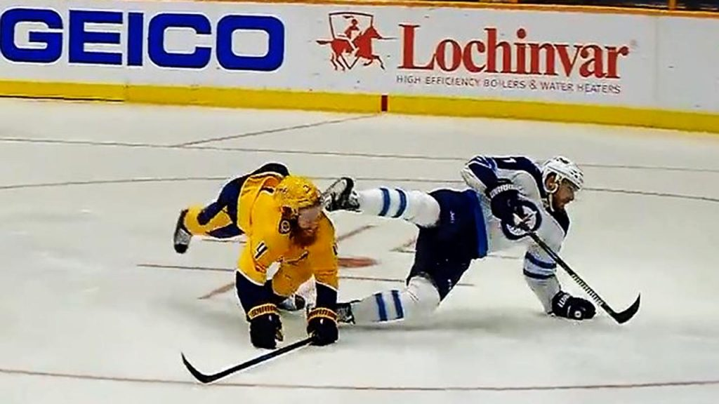 Ryan Ellis takes skate to the face but gets lucky 8535f9634