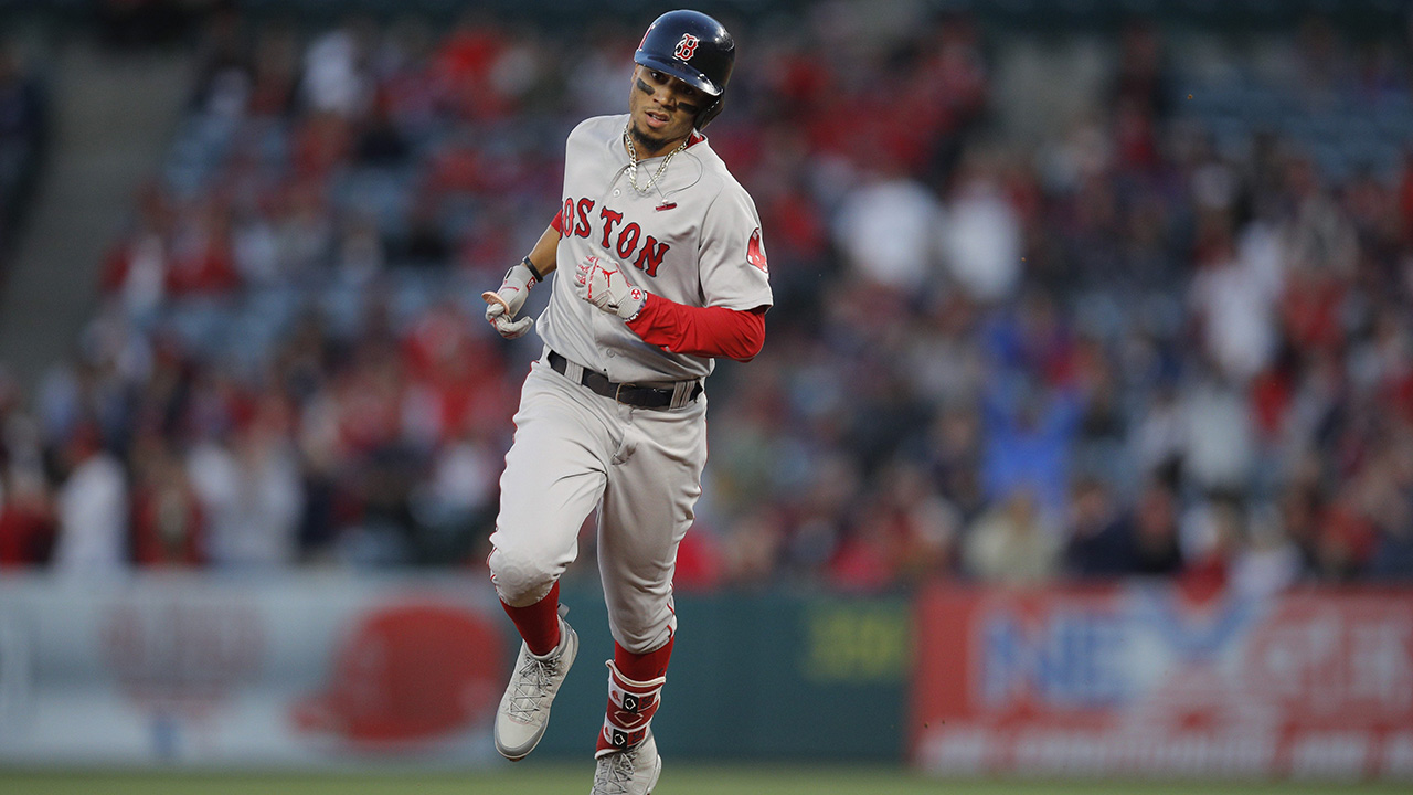 Betts hits 3 HR, Red Sox beat Angels, oust Ohtani early