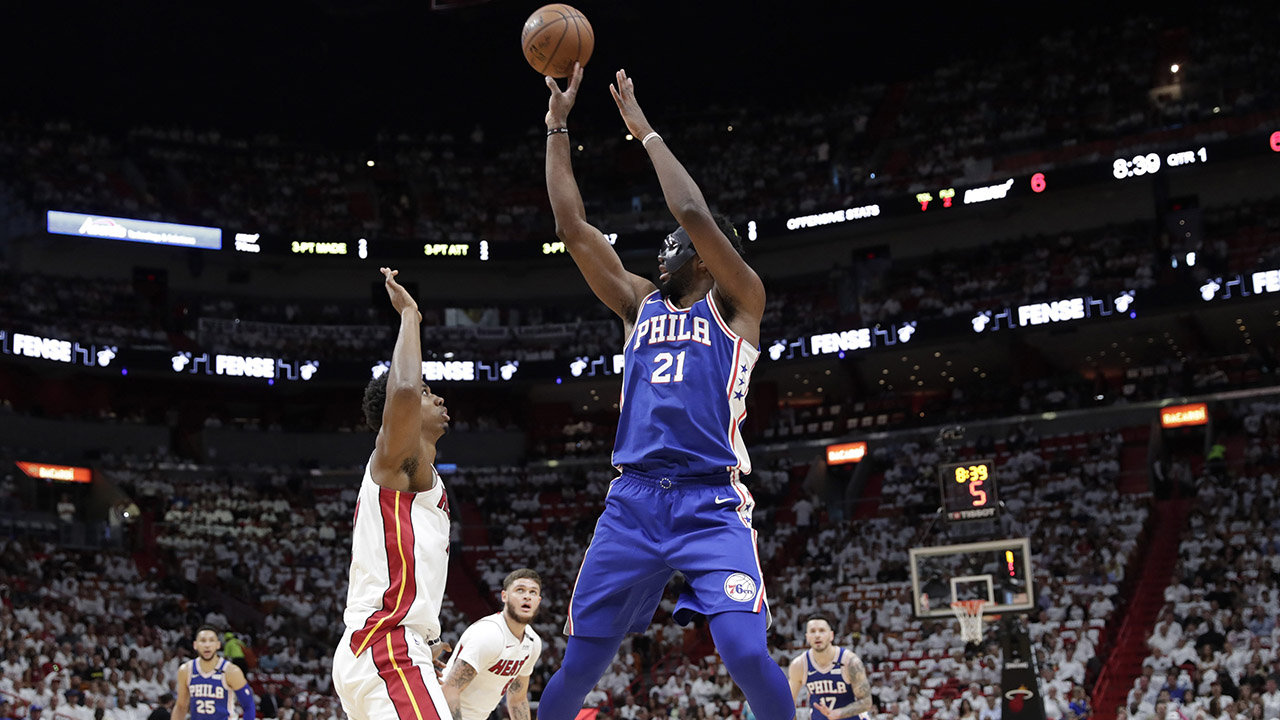 Embiid scores 23, 76ers top Heat for 2-1 series lead