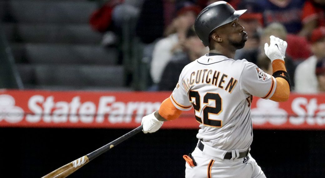 Giants fall to Angels in 4-3 slugfest