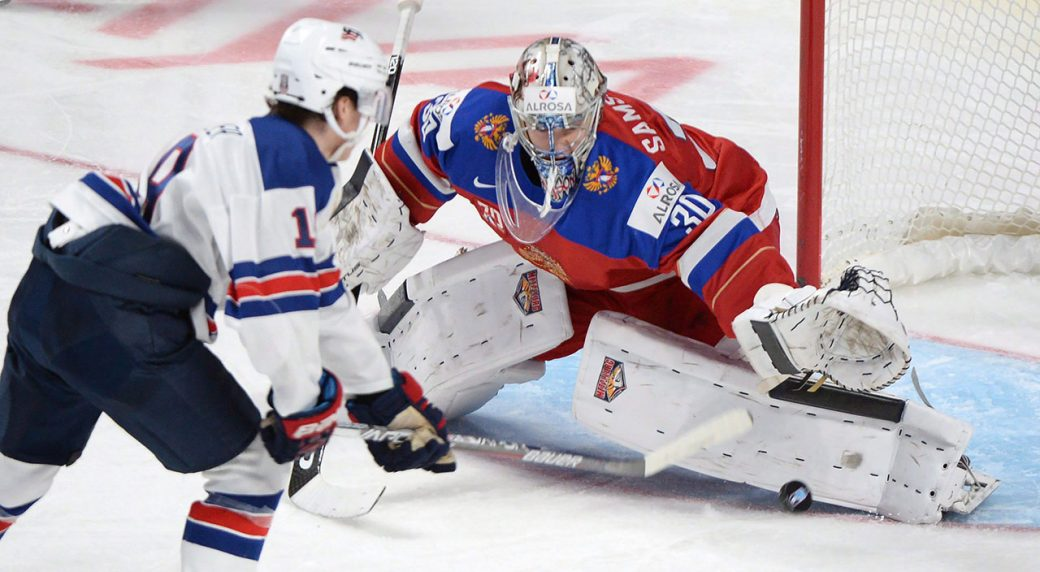 Capitals sign top goalie prospect Ilya Samsonov to entry-level deal ... 40ead1bf83fb