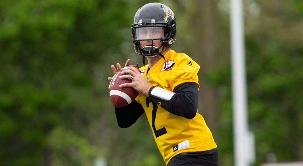 Johnny Manziel on the field at McMaster University during Tiger Cats  training camp. (Peter Power CP) 04ad37447
