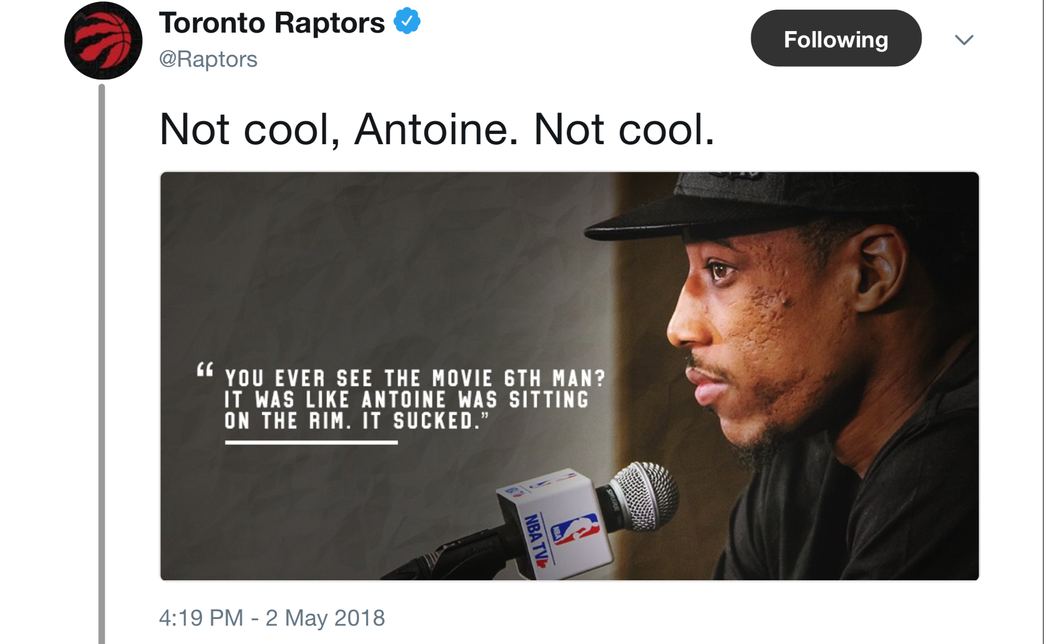 Image result for Behind the scenes of the Raptors' trendy, Drake-quoting social media accounts