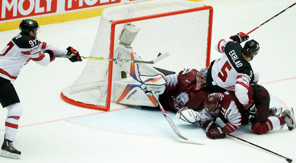 Canada gets past Latvia for quarterfinals spot at hockey worlds