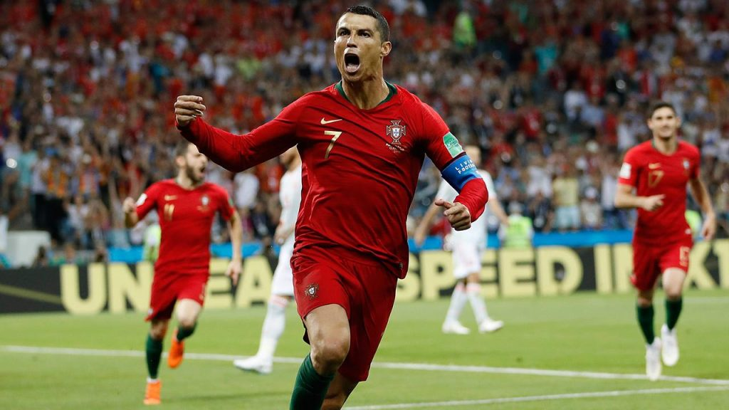 Ronaldo Hat Trick Helps Portugal Draws With Spain In World Cup