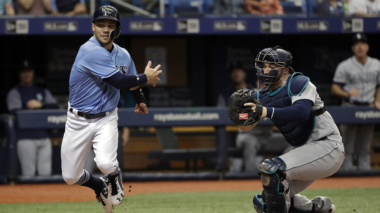 Mariners throw out runner at plate to beat Rays