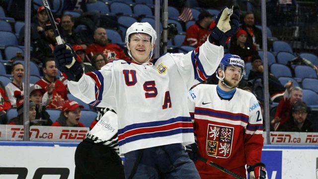 Brady-Tkachuk-celebrating-goal