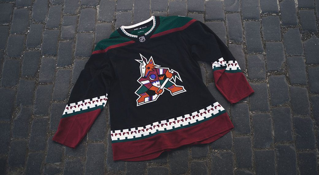 Coyotes bringing back  Kachina  logo for team s third jersey ... 971776a00